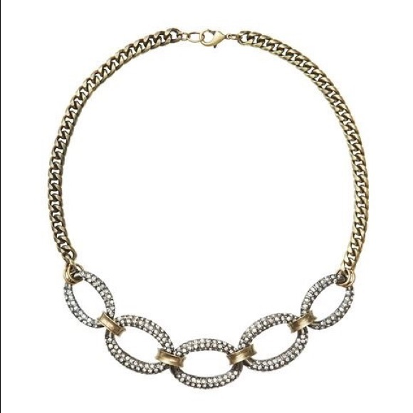 LOFT Short Pave Link Necklace